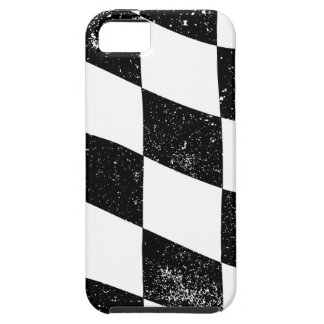 Grunged Chequered Flag Case For The iPhone 5