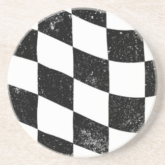Grunged Chequered Flag Coaster