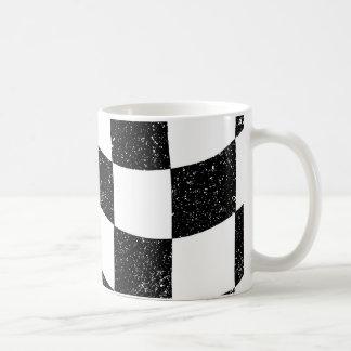 Grunged Chequered Flag Coffee Mug