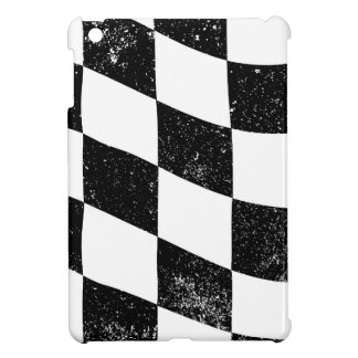 Grunged Chequered Flag Cover For The iPad Mini