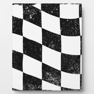 Grunged Chequered Flag Plaque