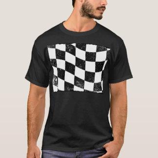 Grunged Chequered Flag T-Shirt