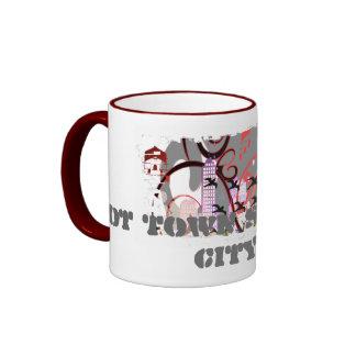Grunged City Ringer Mug