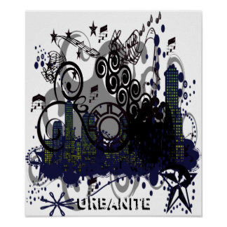 Grunged City Poster