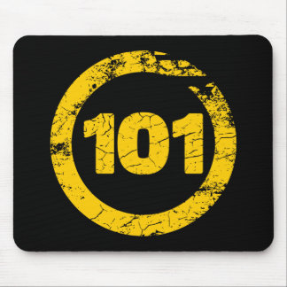 Grungy 101 mouse pad