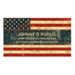 Grungy American Flag Pack Of Standard Business Cards