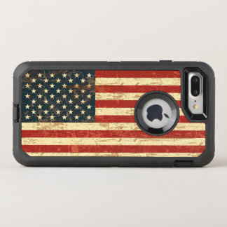 Grungy American Flag USA OtterBox Defender iPhone 8 Plus/7 Plus Case