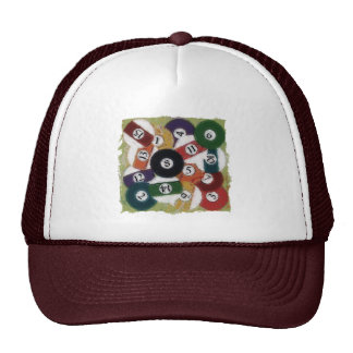 GRUNGY BILLIARDS BALLS CAP