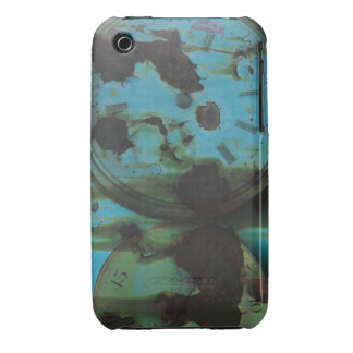 Grungy Blue Green Patina Aged Clock Faces Case-Mate iPhone 3 Case