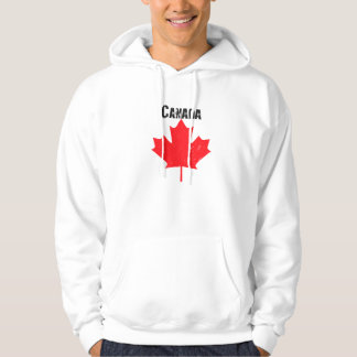 Grungy Canadian Maple Leaf Hoodie