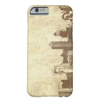Grungy city background barely there iPhone 6 case