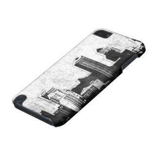 Grungy city background in black and white iPod touch 5G case