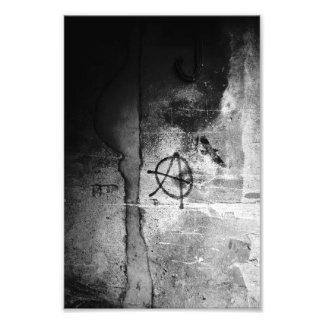 Grungy City Wall Anarchy Photo Print