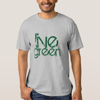 grungy cool live green environmental message tees