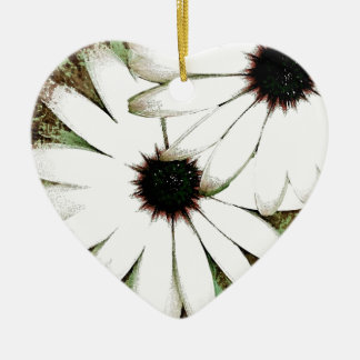 grungy daisys christmas ornament