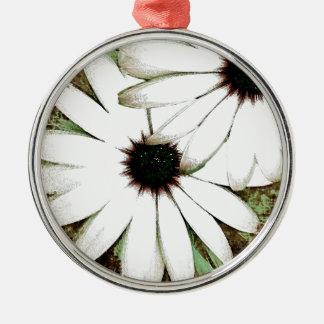 grungy daisys christmas ornament