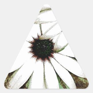 grungy daisys triangle sticker