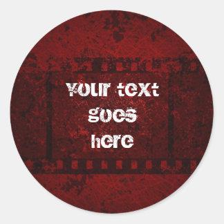 grungy design sticker
