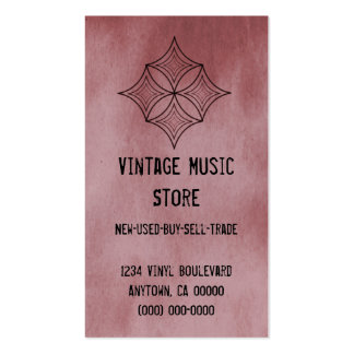 Grungy Diamond Business Card, Cabernet Pack Of Standard Business Cards