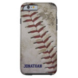 Grungy Dirty Baseball Personalised iPhone 6 case