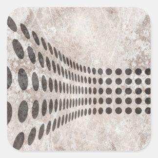 Grungy Dots Design Square Stickers