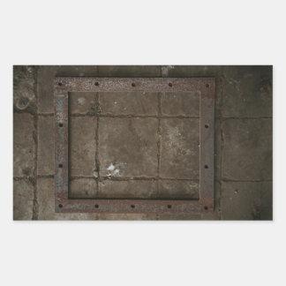 grungy dungeon wall texture rectangular sticker