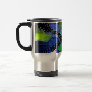 Grungy Electric Guitars Travel Mug