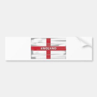Grungy England Flag Bumper Sticker