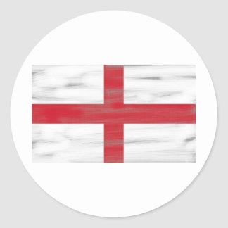 Grungy England Flag Classic Round Sticker