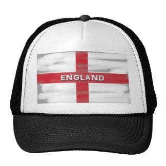 Grungy England Flag Mesh Hats