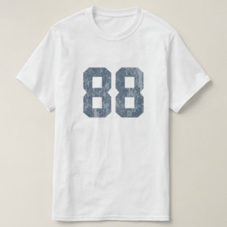 Grungy Faded 88 Blue T Shirt