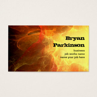 grungy fire business card