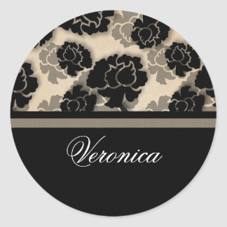 Grungy Floral Decadence Stickers, Ivory Beige