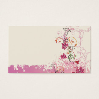 Grungy flowers Business Card