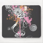 Grungy flowers Mousepad