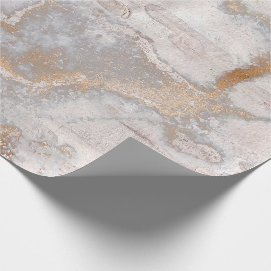 Grungy Gold Blush Birch Rustic Cottage Marble Wrapping