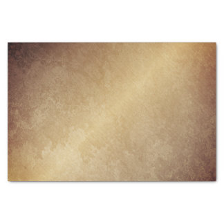 Grungy Gold Sepia Minimal Abstract VIP Industrial Tissue Paper