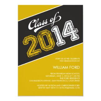 Grungy Graduate 2014 Graduation Invitation Invitation