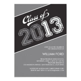 Grungy Graduate Graduation Invitation - Gray Invite