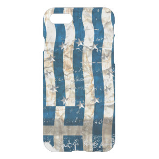 Grungy Greek flag ... iPhone 7 Case