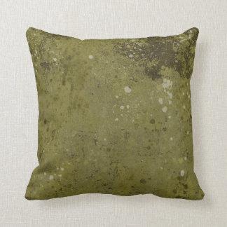 Grungy Green Cement Textured Throw Pillows