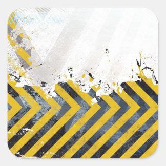 Grungy Hazard Stripes Stickers