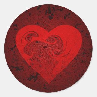 grungy heart sticker