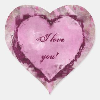 Grungy Hearts Heart Sticker