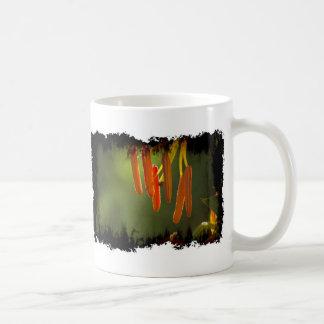 Grungy Humboldt Lily Stamens on White Coffee Mug