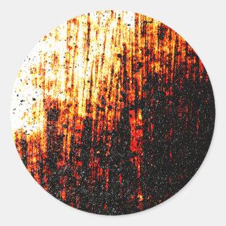 Grungy Image Round Sticker
