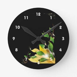 grungy leaves graphic corner.png wall clocks