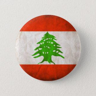 Grungy Lebanon Flag 6 Cm Round Badge