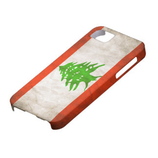 Grungy Lebanon Flag Barely There iPhone 5 Case