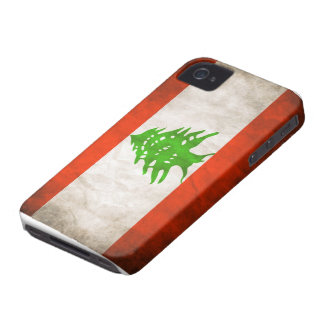 Grungy Lebanon Flag iPhone 4 Cases
